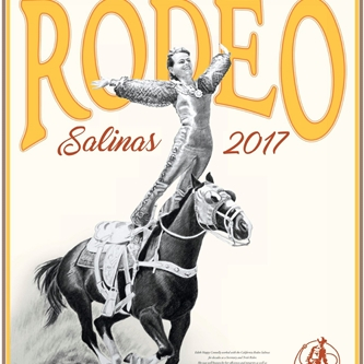 2017 CALIFORNIA RODEO SALINAS COMMEMORATIVE POSTER HAS VINTAGE FEEL