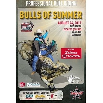 PROFESSIONAL BULL RIDING WILL BE BACK IN SALINAS ON AUGUST 26TH