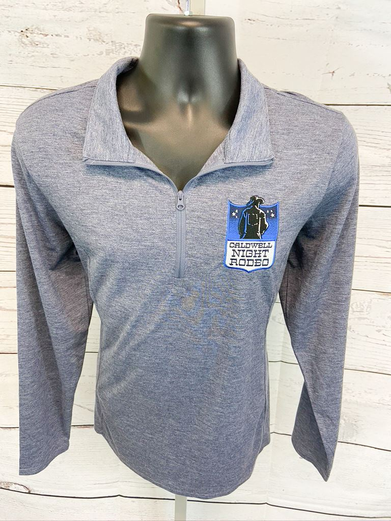 Ladies 1/4 Zip Pullover With Shield Logo
