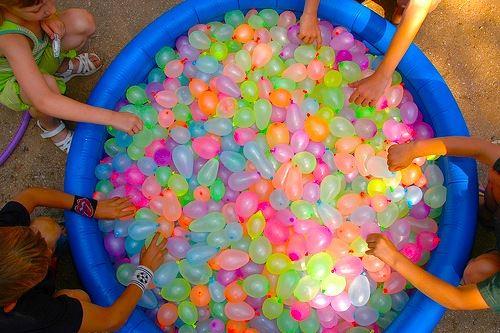 Water Balloon Throwing