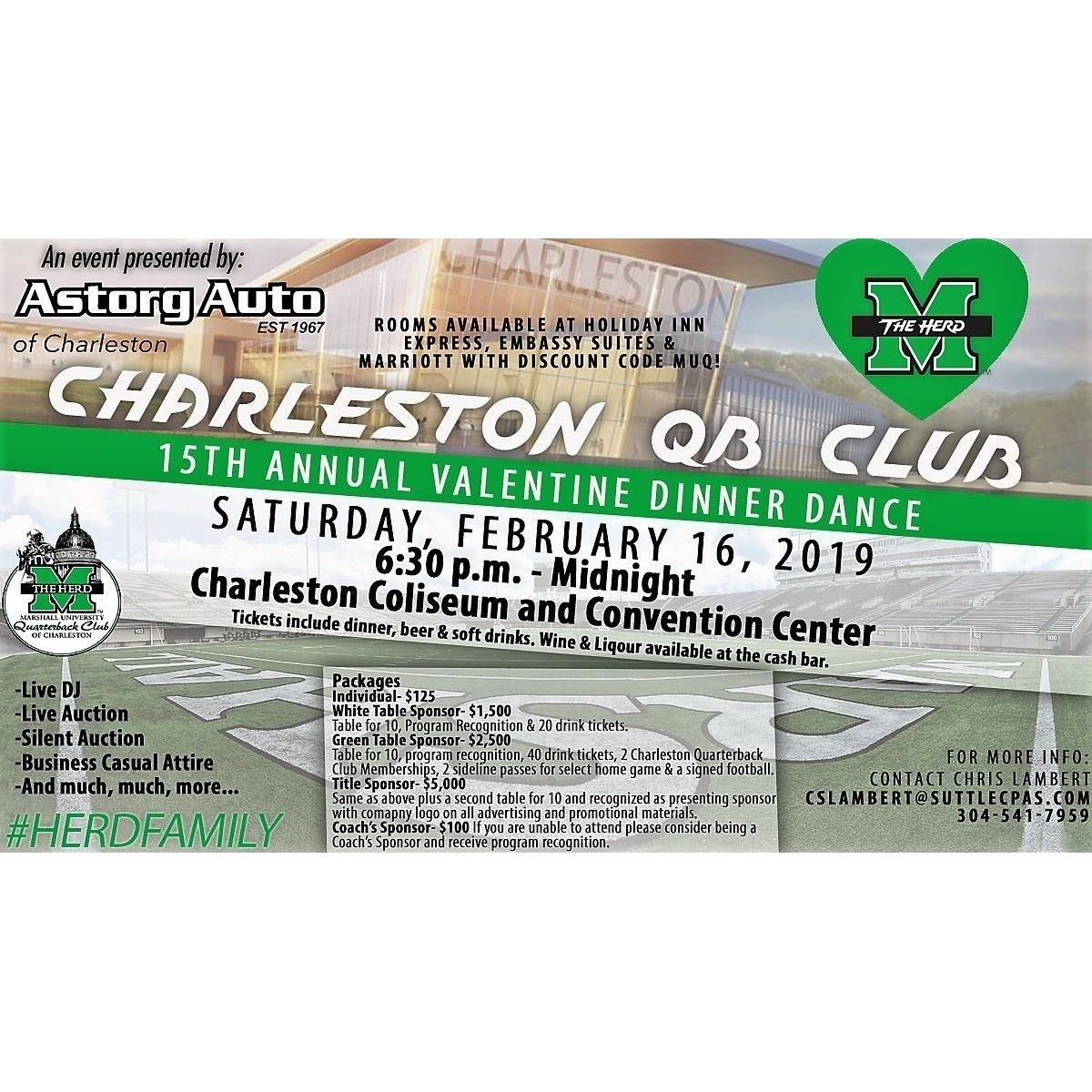 Marshall University Quarterback Club of Charleston Presents: 15th