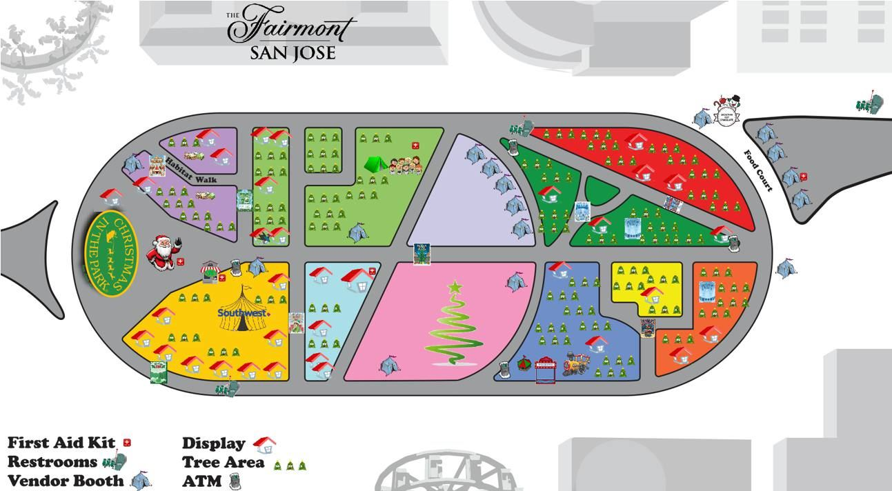 Christmas In The Park San Jose.Event Map