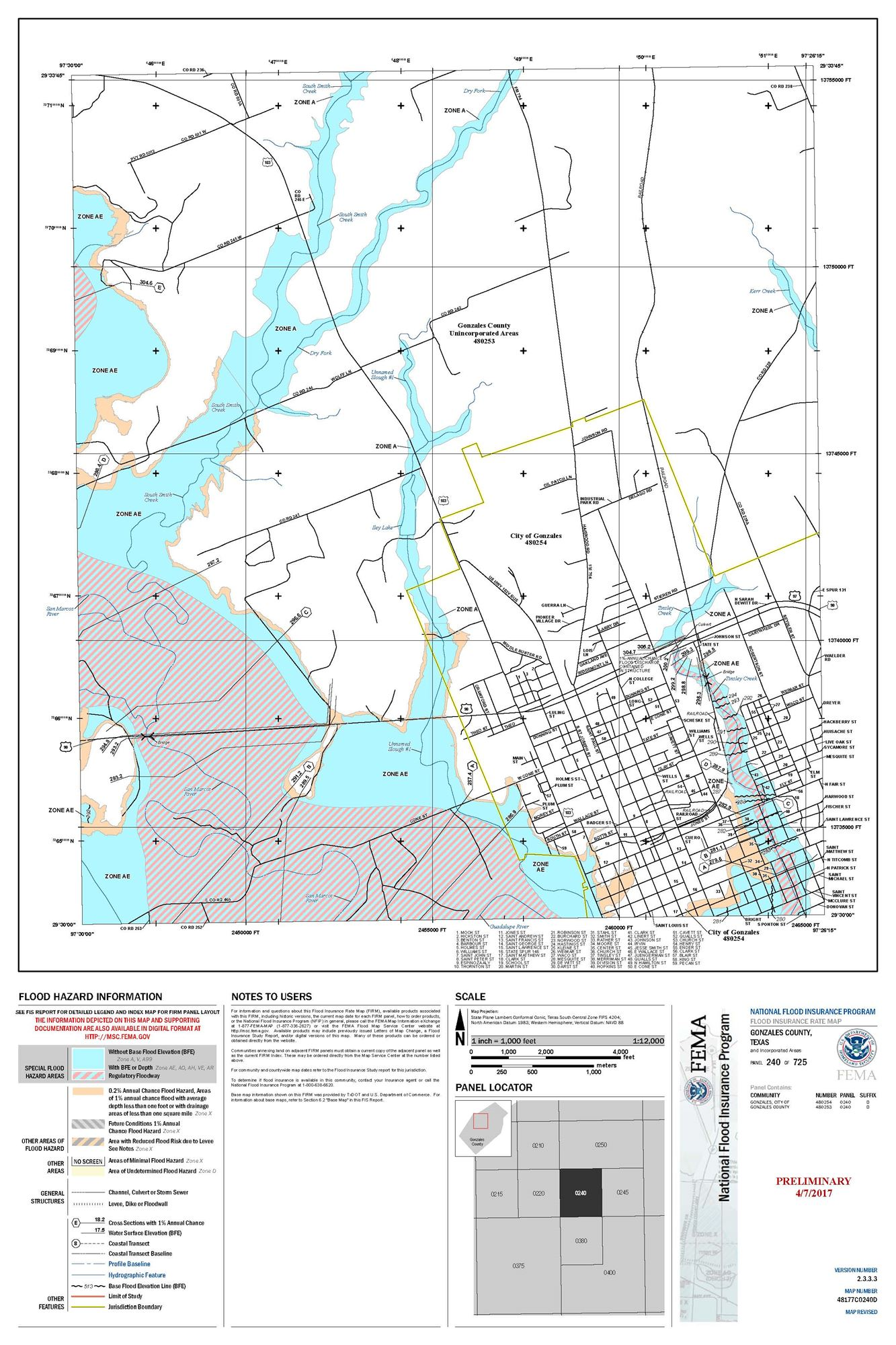Preliminary Flood Map - Flood line map
