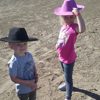 My grandkids are so excited to come to the Fair and join in on the stick horse races. Great fun