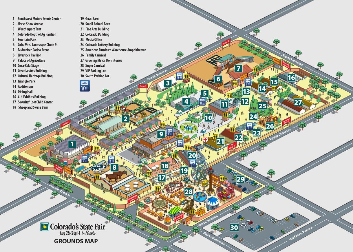 Map Of Fairgrounds - Colorado state map