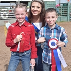 Mutton Bustin Winner 9-10 Year Old Division