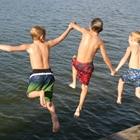 Jumping for Joy at Lake Conroe