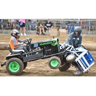 Lawn Mower Derby Action Picture