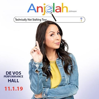 "Comedian Anjelah Johnson Announces her ""Technically Not Stalking Tour"""