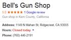 Bell's Gun Shop