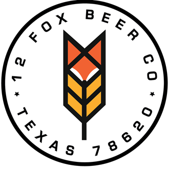 The 12 fox beer logo