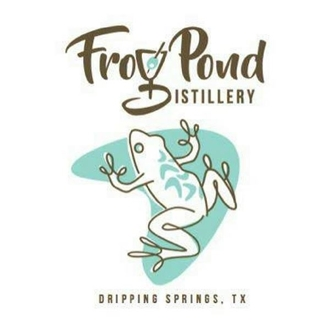 A logo with the name frog pond and an image of a frog