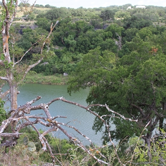 Overlooking the river at Reimers Ranch