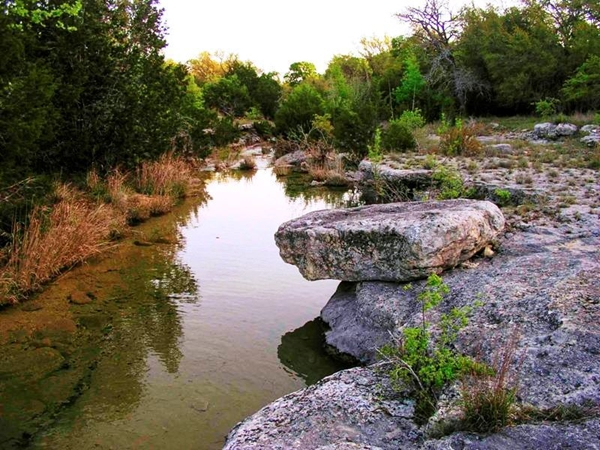 A creek in the Texas Hill Country.