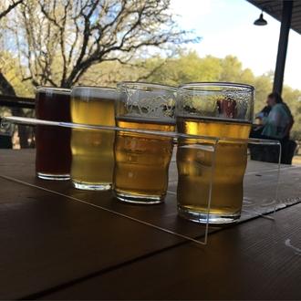 A flight of 4 beers
