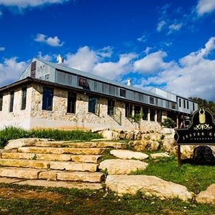 The outside of Jester King Brewery