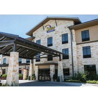 The exterior of the Sleep Inn and Suites in downtown Dripping Springs