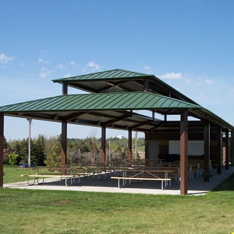 Heritage Pavilion in Dickinson, ND is an outdoor pavilion located within the Prairie Outpost Park, adjacent to the Dickinson Museum Center.