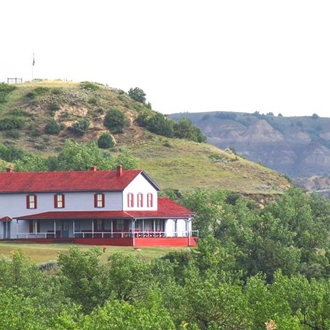 The Chateau de Mores State Historic Site in Medora, ND is a short drive from Dickinson, ND.