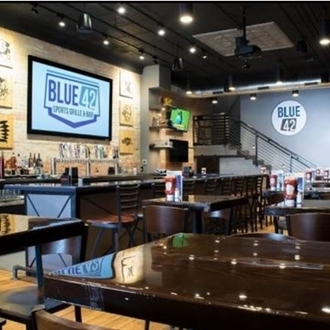 Blue 42 Sports Grille & Bar is located in downtown Dickinson, ND and features burgers, chicken wings, pastas, sandwiches, and more.
