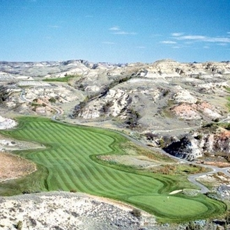 Bully Pulpit Golf Course in Medora, ND is an 18 hole golf course over 7,166 yards with a par of 72. Ranked one of America's 100 Greatest Public Golf Courses. A short drive from Dickinson, ND.