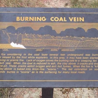 Burning Coal Vein is a badlands landscape still in the making near Amidon, ND and is a great day trip from Dickinson, ND.