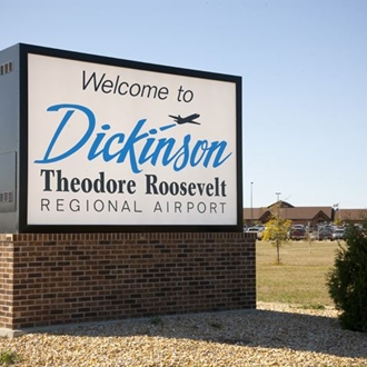 Dickinson Theodore Roosevelt Regional Airport is an airport serviced by United Airlines in Dickinson, ND.