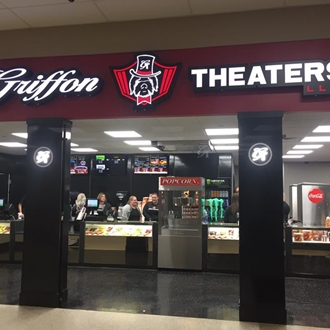 Griffon Theaters, LLC is a movie theatre in Dickinson, ND that runs 3 shows nightly and during holidays along with weekend matinees. Located in the Prairie Hills Mall.