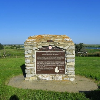 The Killdeer Mountain Battlefield State Historic Site is near Killdeer, ND and is a quick drive from Dickinson, ND.