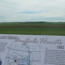 The Last Great Buffalo Hunt Site near Hettinger, ND is a quick drive from Dickinson, ND.