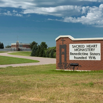 The Sacred Heart Monastery is a rural Midwest community of 31 Benedictine women in Richardton, ND. A short drive from Dickinson, ND.