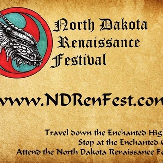 Travel down the Enchanted Highway and attend the North Dakota Renaissance Festival.  July 13 - Sept 1, 2019
