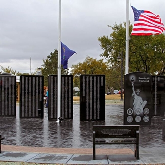 The Stark County Veterans Memorial in Dickinson, ND is dedicated to all the men and women of Stark County who have honorably served in the Nation's military.