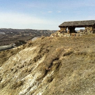 The Theodore Roosevelt Elkhorn Ranch in Medora, ND is a short drive from Dickinson, ND.