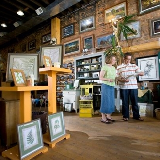 JP Frameshop & Western Edge Gallery in Dickinson, ND showcases local and regional artists in the historic building filled with Pride of Dakota products and unique gifts.