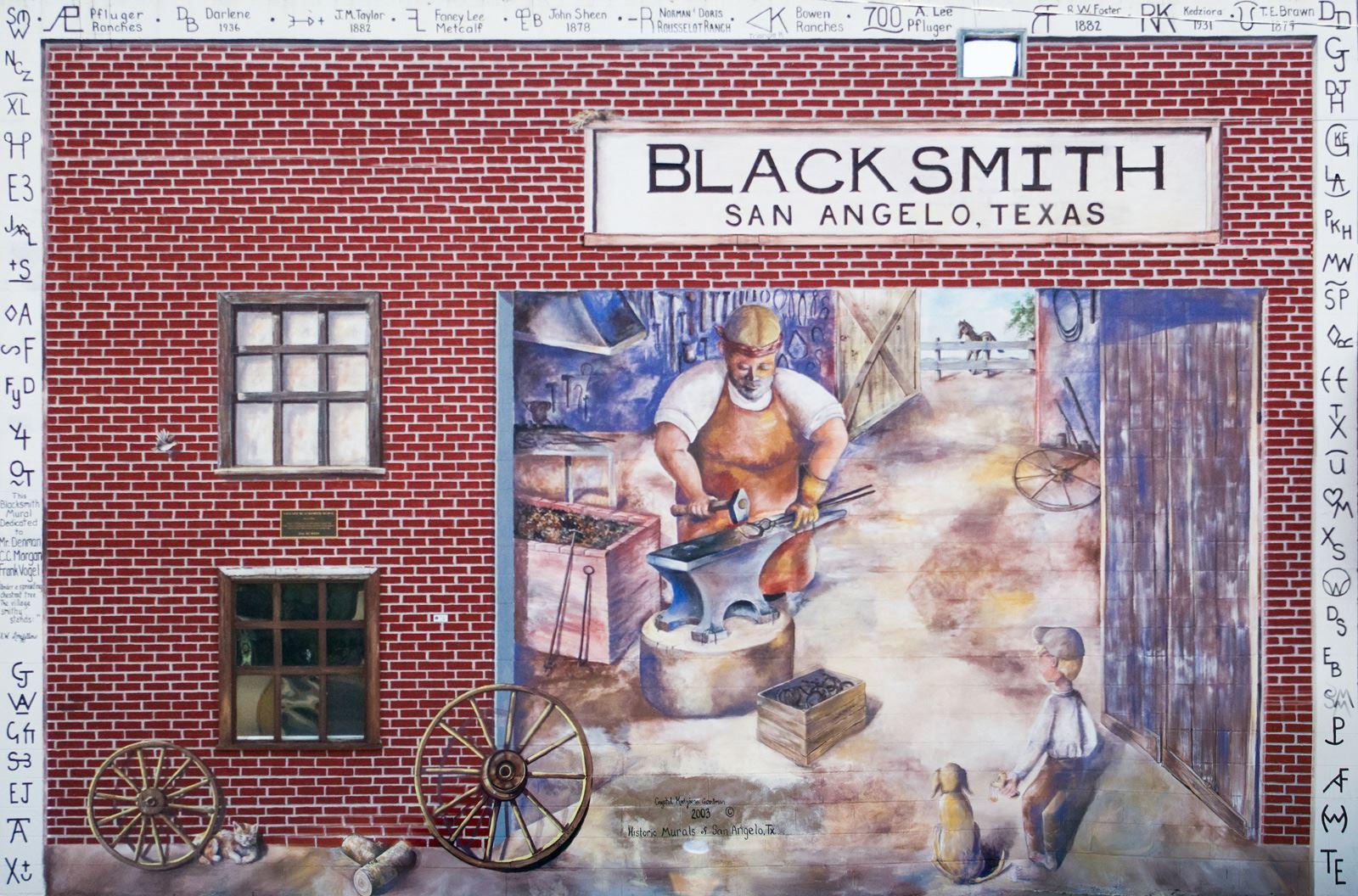 The Blacksmith Mural