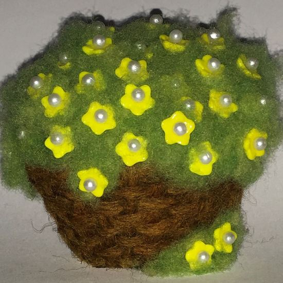 Needle Felted Basketful of Posies