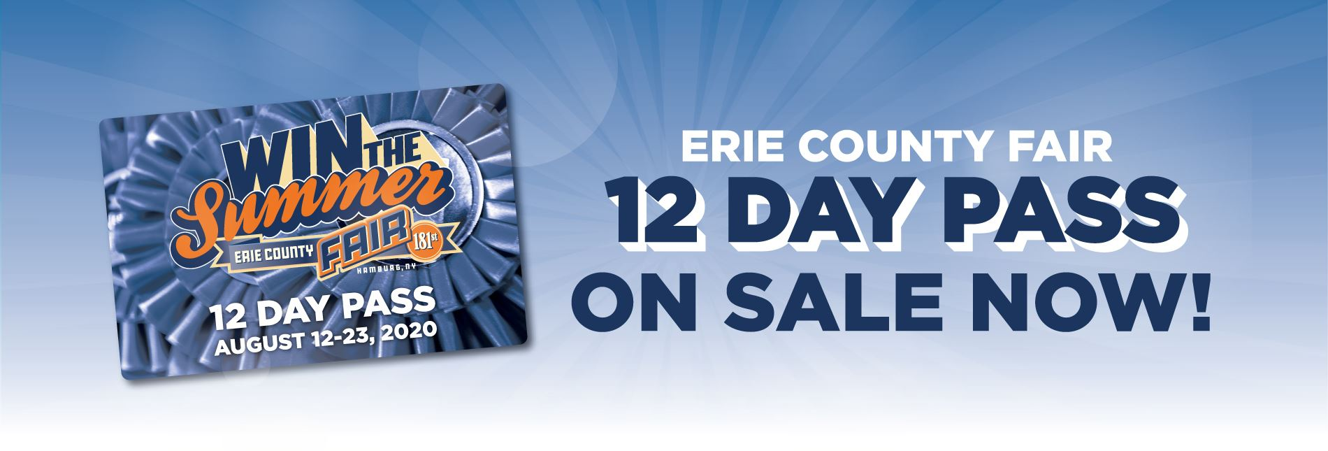 12 Day Pass on sale now!