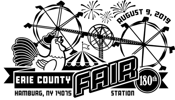 2019 Erie County Fair Commemorative Postmark