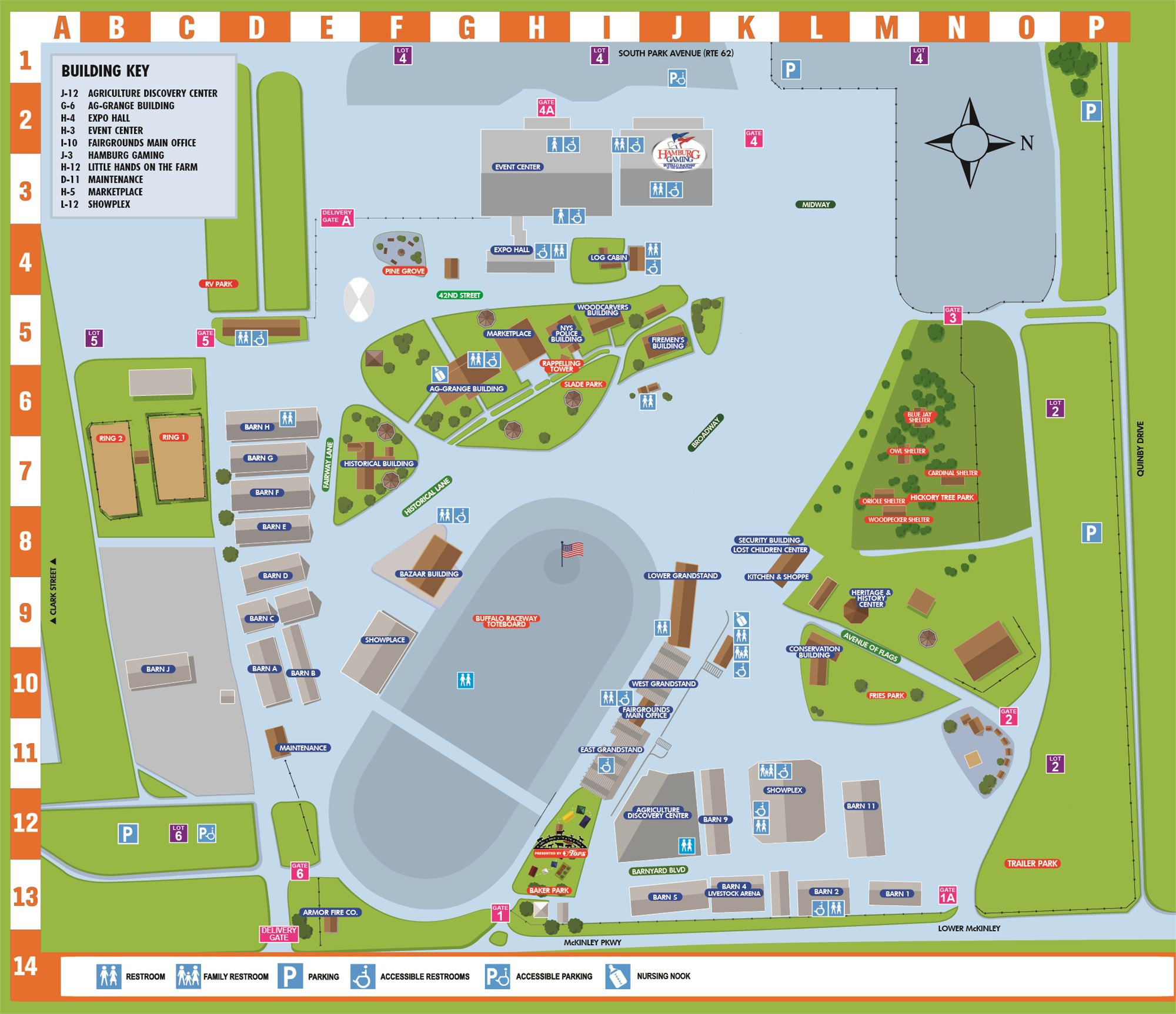 Map of Grounds C O Map on
