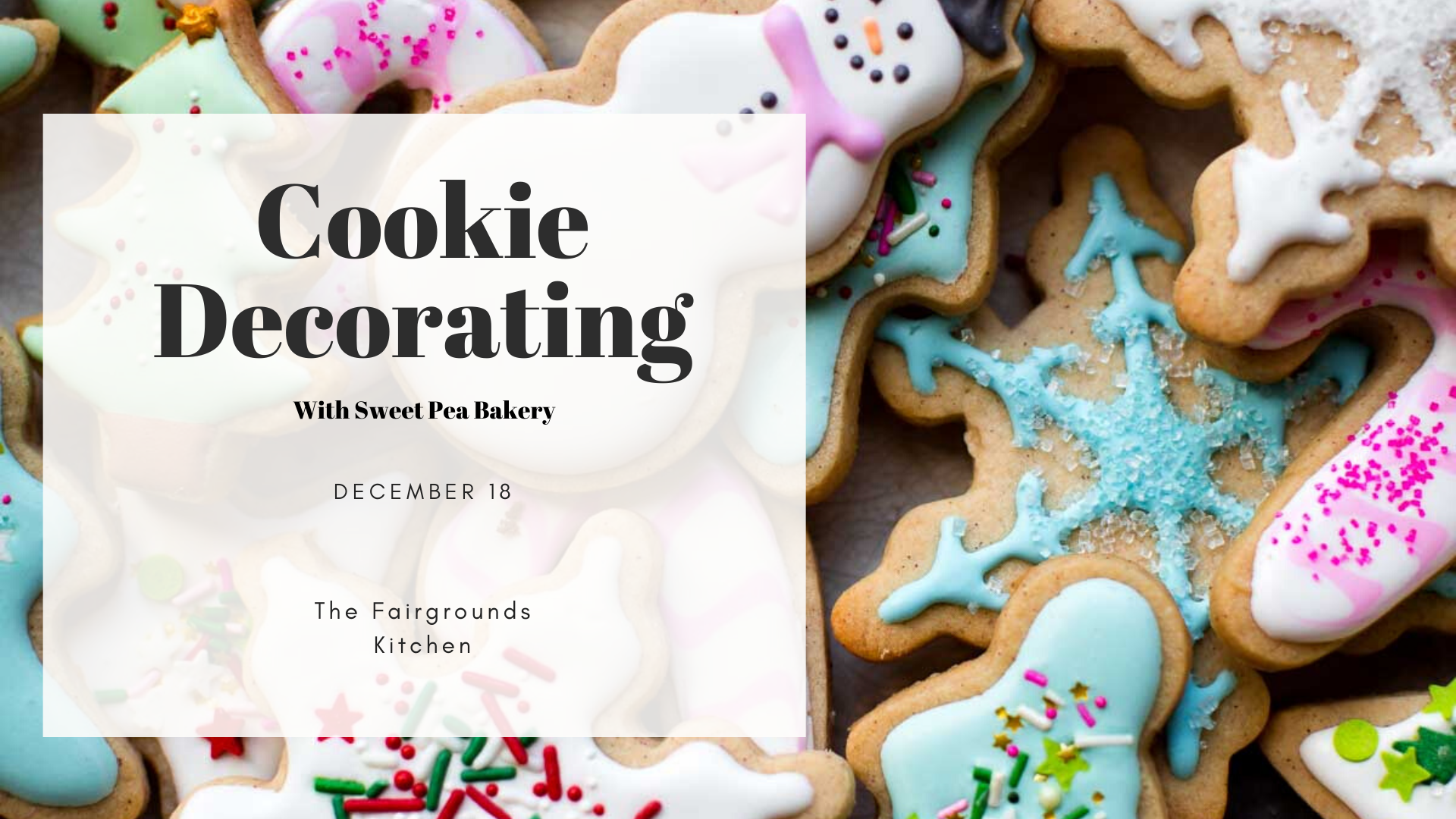 Cookie Decorating with Sweet Pea Bakery