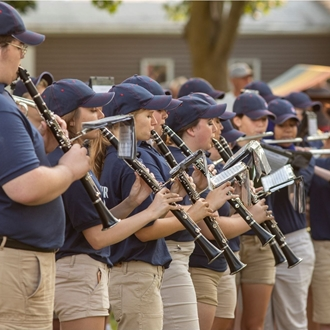 Photo of the Erie County Fair Marching Band