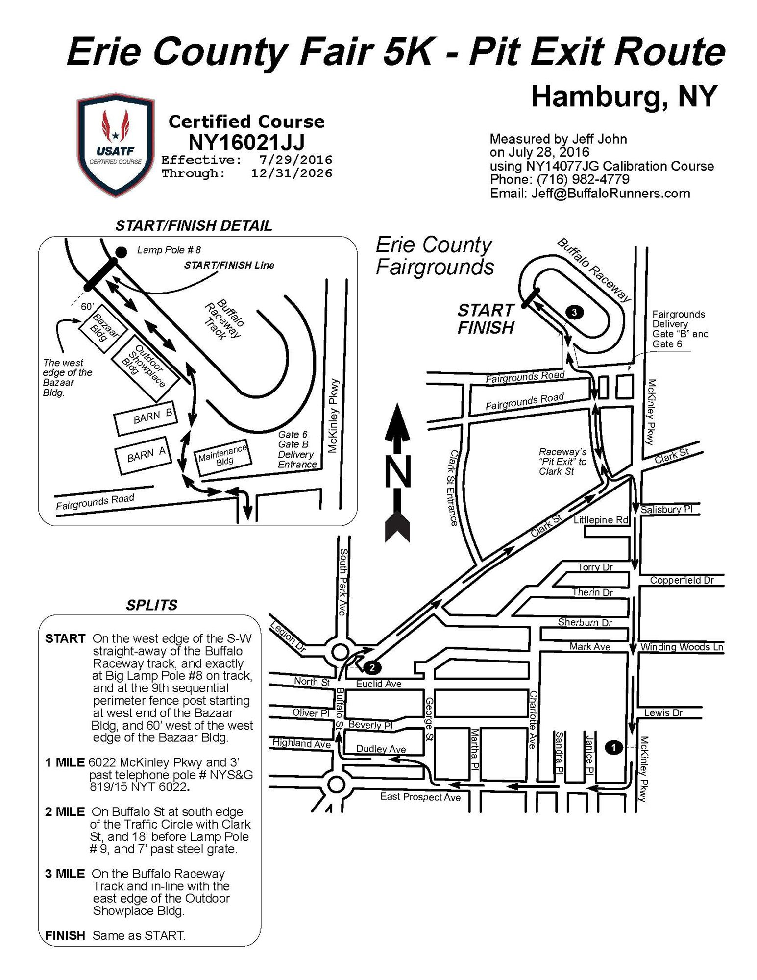 Erie County Fair 5k Route