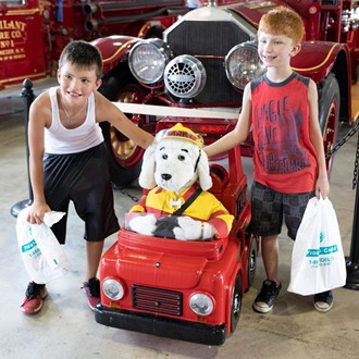 photo of sparky the fire dog