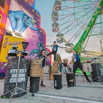 photo of street drum corps