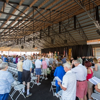 Photo of the Worship Service in the Family Entertainment Complex