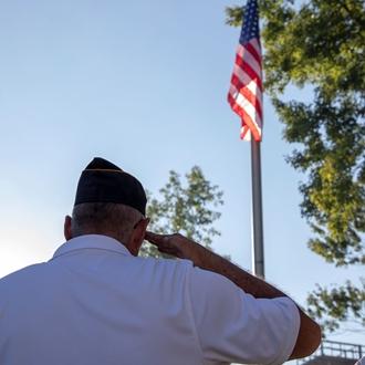 Photo of Flag Retreat Ceremony