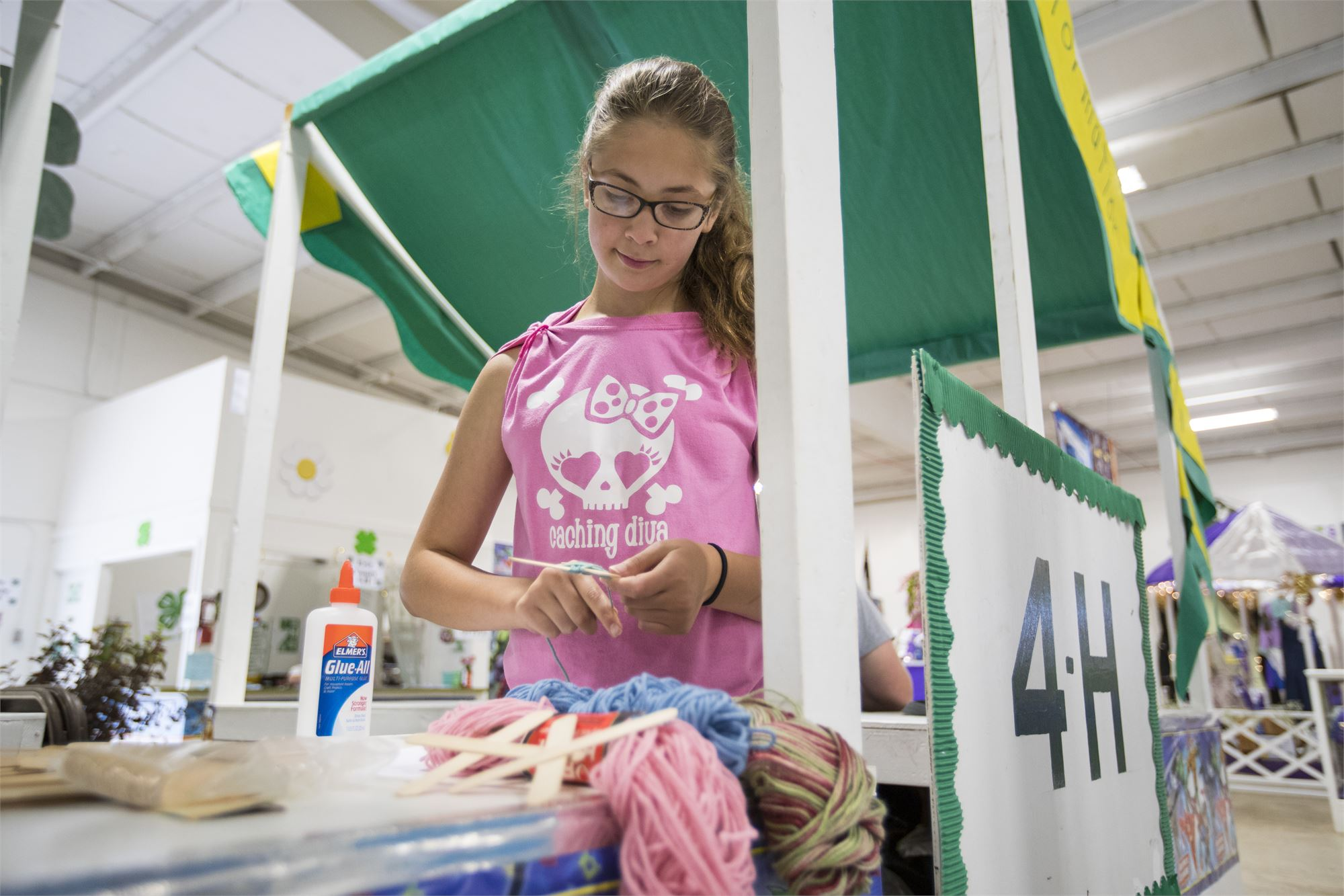 Photo of girl inside the 4-H Youth Development Building