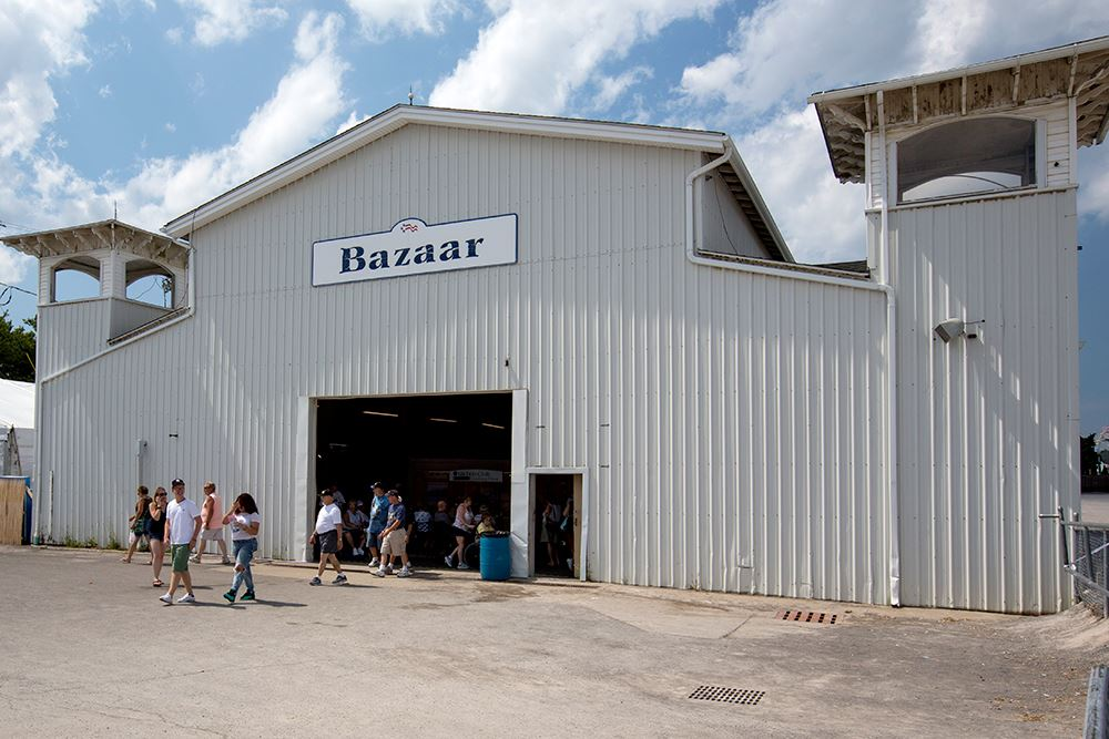 Photo of the outside of the Bazaar Building