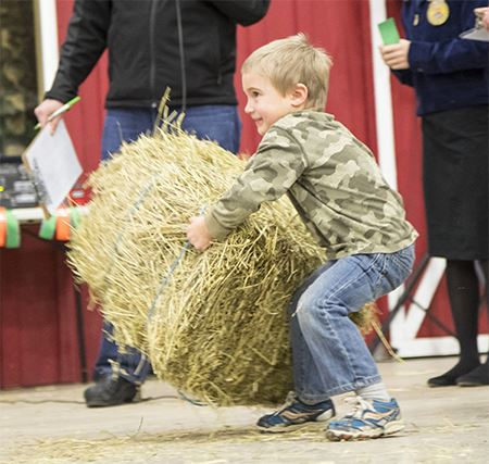 Hay Bale Toss Photo